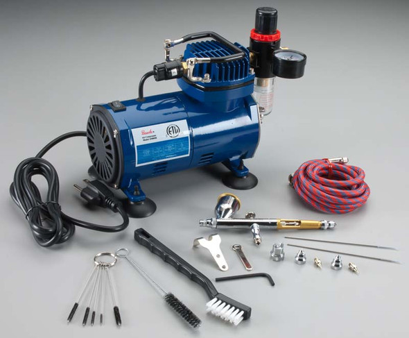 Paasche TG-100D Double Action Air Compressor w/ Hobby Package
