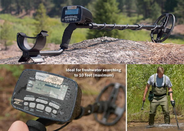 Garrett  AT Gold Metal Detector w/ premium volume-control land headphones 1140680