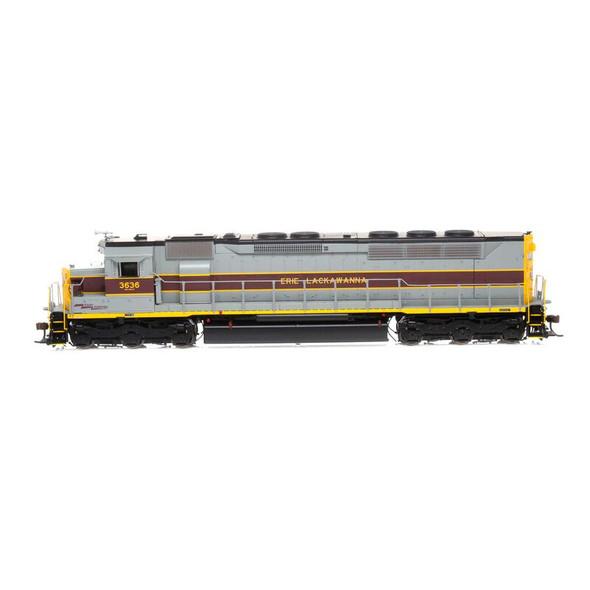 Athearrn ATHG63698 Erie Lackawanna SDP45 w/DCC & Sound #3636 Locomotive HO Scale