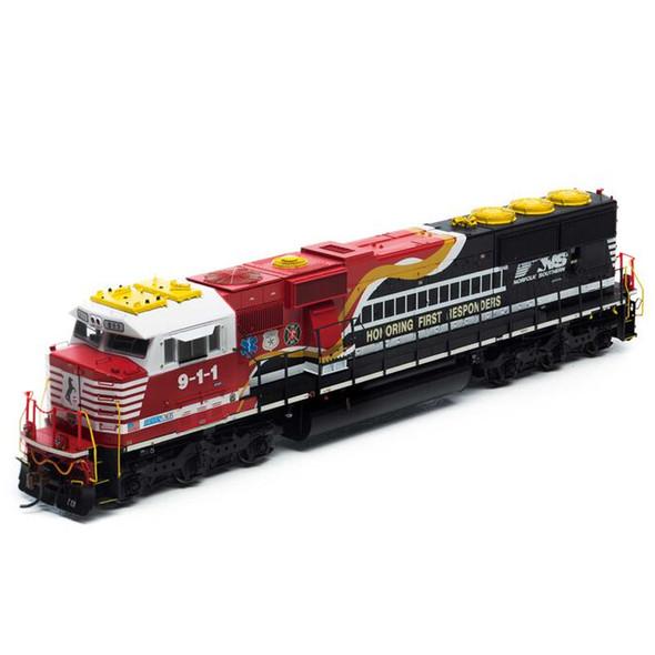 Athearrn ATHG65250 Norfolk Southern SD60E w/DCC & Sound NS #9-1-1 Locomotive HO Scale