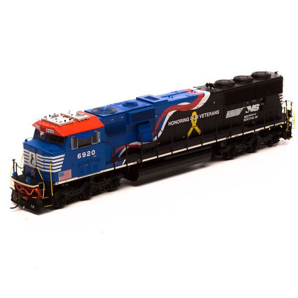 Athearrn ATHG65254 SD60E w/DCC & Sound NS Honor Our Veterans #6920 Locomotive HO Scale