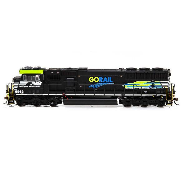 Athearrn ATHG65258 SD60E w/ DCC & Sound NS GoRail #6963 Locomotive HO Scale