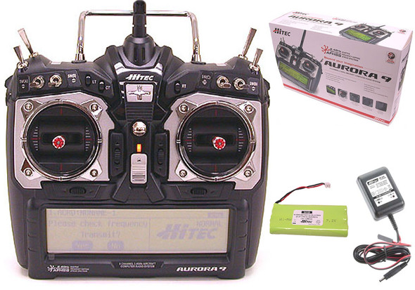 Hitec Aurora 9 2.4GHz HELI/AIR Transmitter w/ Battery & Charger MD2 Radio