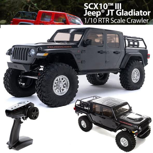 Axial AXI03006T1 1/10 SCX10 III Jeep JT Gladiator Rock Crawler w/ Portals RTR Grey