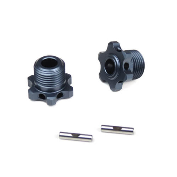 Tekno RC TKR5569 17mm Narrow Wheel Hubs :TKR5580 Axles Lightened w/pins (2pcs)