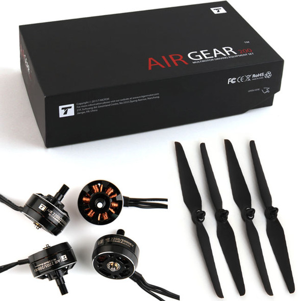 T-Motor Air Gear 200 Combo A2205 2000kv BL Motor (4pcs) 6535 Props (2CW+2CW)