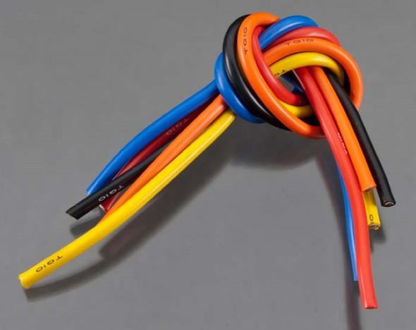 TQ Wire 1105 10 Gauge Wire 1' 5-Wire Kit Blk/Red/Blu/Ylw/Org