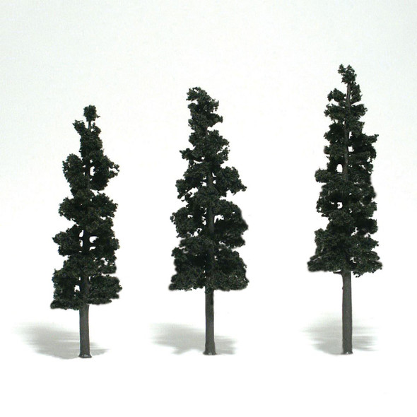 Woodland Scenics Conifer Green Trees 6-7in (3)