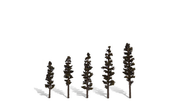 Woodland Scenics Standing Timber Trees 2 1/2-4in (5)