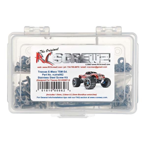 RC Screwz TRA062 Stainless Screw Kit Emaxx TSM