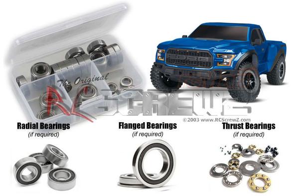 RC Screwz TRA078R Traxxas Ford Raptor 2017 Rubber Shielded Bearings Kit