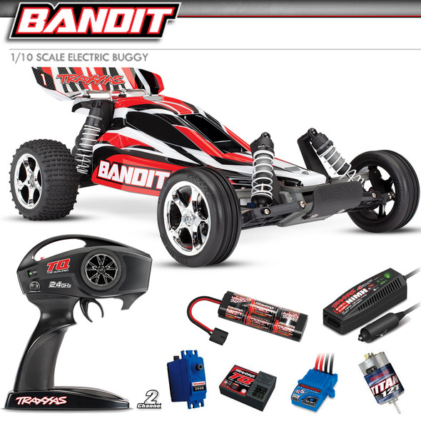 Traxxas 24054-1 1/10 Bandit XL-5 2WD Off-Road RedX Buggy RTR w/ Radio/ Battery / Charger