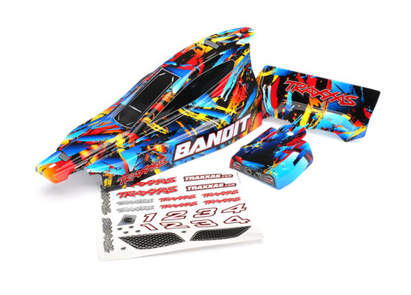 Traxxas 2448 Painted Body w/ Decal Applied : Bandit, Rock n' Roll