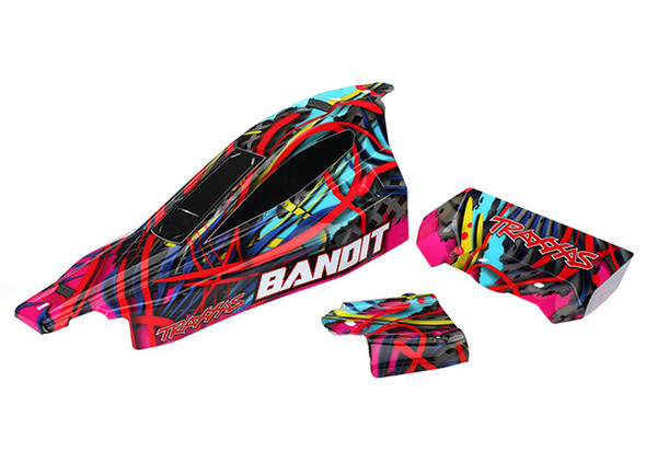 Traxxas 2449 Body Hawaiian Graphics Painted Decals Applied : Bandit