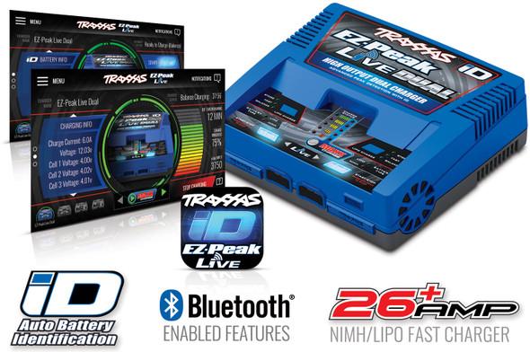 Traxxas 2973 EZ-Peak Live Dual Multi AC NiMH/LiPo Battery Bluetooth Charger