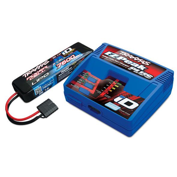 Traxxas 2S 7600mAh LiPo Battery w/EZ-Peak Plus 4A Charger