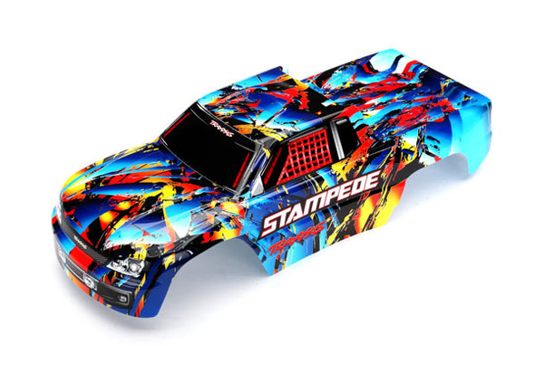 Traxxas 3648 Painted Body w/ Decals : Stampede Rock n' Roll