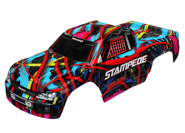 Traxxas 3649 Body Hawaiian Graphics (painted, decals applied) : Stampede
