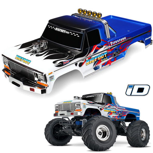 Traxxas 3653 Flame Painted Body Decals Applied : Bigfoot No.1 Officially Licensed Replica