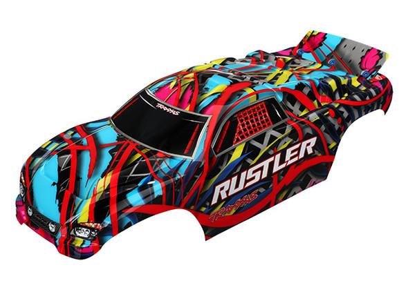 Traxxas 3749 Body Hawaiian Graphics Painted Decals Applied : Rustler
