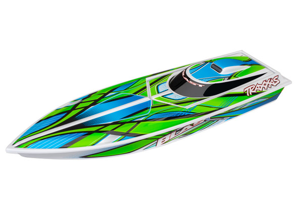 Traxxas 38104-1-GREEN BLAST Electric Race Boat RTR w/ Battery & Charger