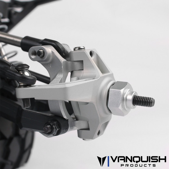 Vanquish VPS06550 CNC Machined Front Knuckles Black Axial Yeti / Exo Terra buggy