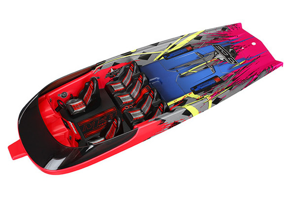 Traxxas 5767 Hatch Hawaiian graphics fully assembled : DCB M41 Widebody Boat