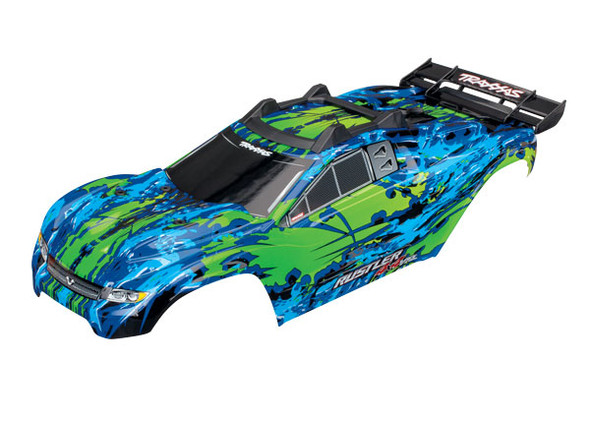 Traxxas 6717G Green Body w/Mounts & Support for Clipless Mounting : Rustler 4x4 VXL