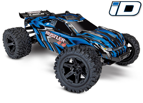 Traxxas 6718X Blue Body w/Mounts & Support for Clipless Mounting : Rustler 4x4