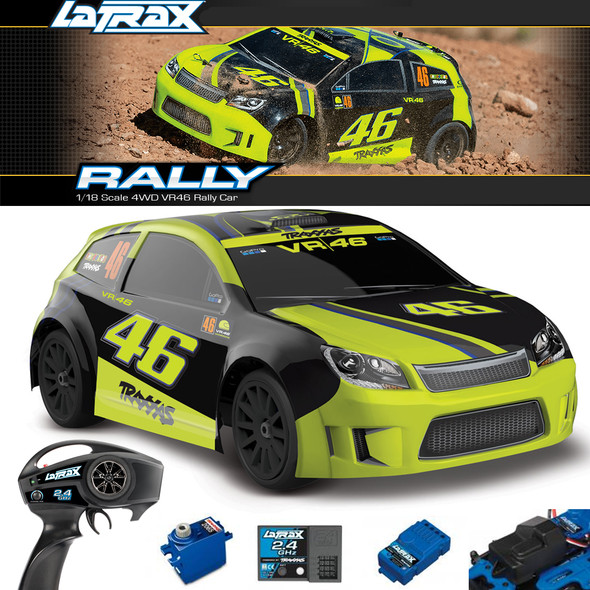 Traxxas LaTrax 75064-5 1/18 4WD VR46 Rally Car RTR w/ Painted Body/Battery/Charger