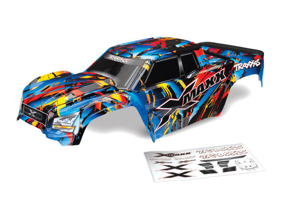 Traxxas 7711T Painted Body Decals Applied Assembles w/ Tailgate Protector : X-Maxx Rock n' Roll