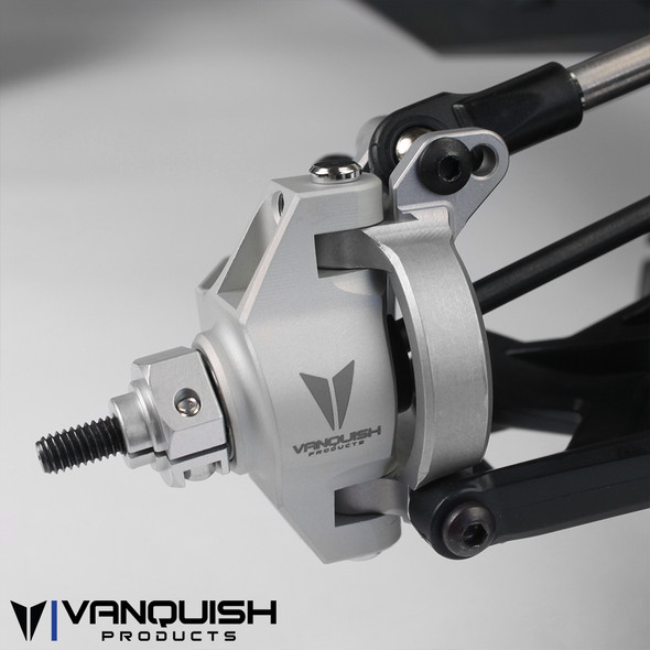 Vanquish VPS06552 CNC Machined Front Knuckles Grey Axial Yeti /  Exo Terra