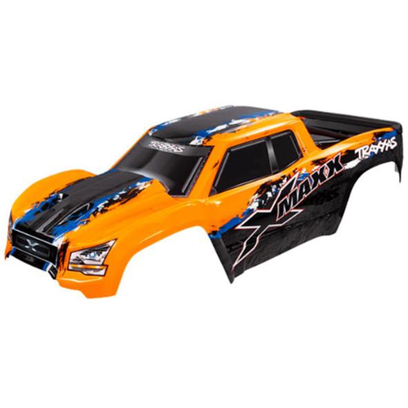 Traxxas 7811 Orange Body Painted w/ Front & Rear Mounts / Rear Support : X-Maxx
