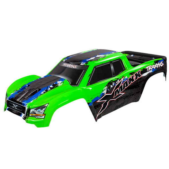 Traxxas 7811G Green Body Painted w/ Front & Rear Mounts / Rear Support : X-Maxx