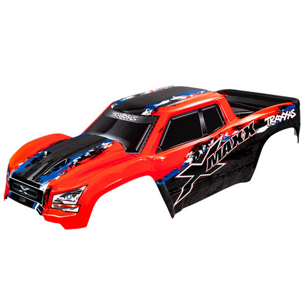 Traxxas 7811R Red Body Painted w/ Front & Rear Mounts / Rear Support : X-Maxx
