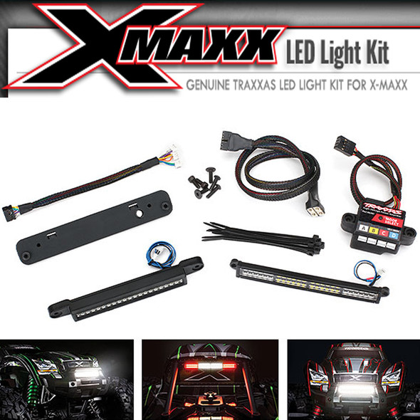 Traxxas 7885 Complete LED Light Kit w/ #6590 High-Voltage Power Amplifier : X-Maxx