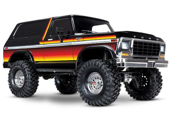 Traxxas 8010X Ford Bronco Ranger XLT Black Body Kit w/ Red/ Sunset Decals : TRX-4