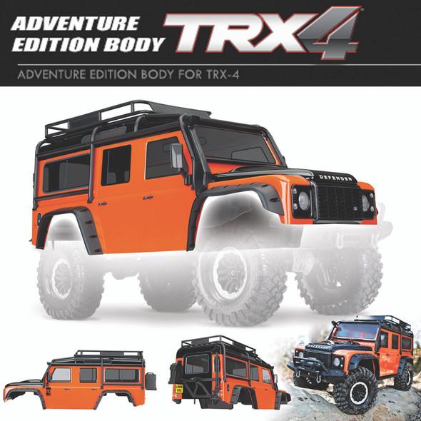 Traxxas 8011A Land Rover Defender Adventure Edition Body Orange: TRX-4