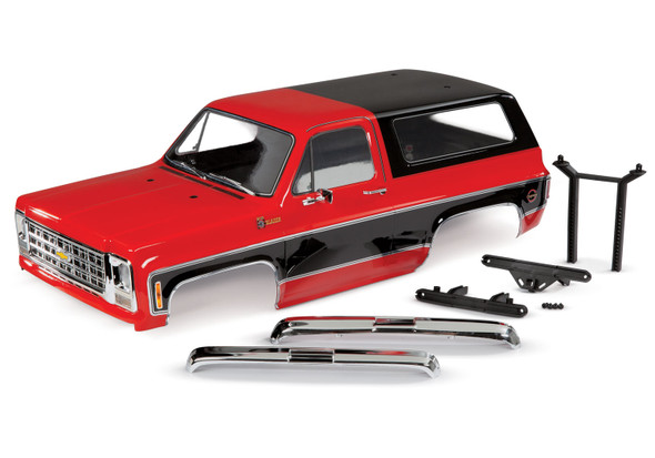 Traxxas 8130R Complete Chevrolet Blazer 1979 Body Red w/ Grille / Side Mirrors