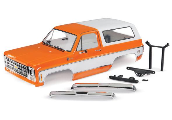 Traxxas 8130X Complete Chevrolet Blazer 1979 Body Orange w/ Grille / Side Mirrors