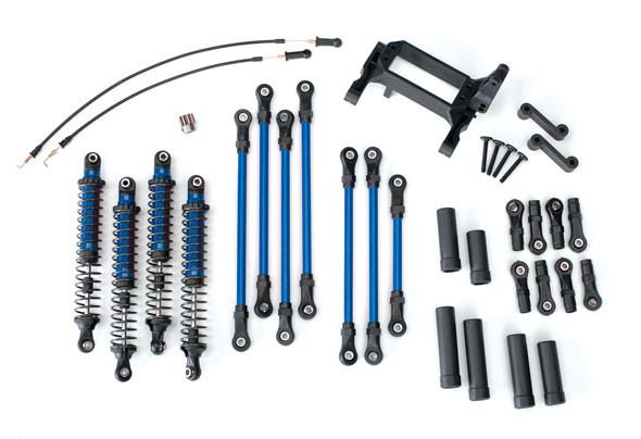 Traxxas 8140X Long Arm Lift Kit Complete Blue : TRX-4 Ford Bronco / Defender / Tactical Unit
