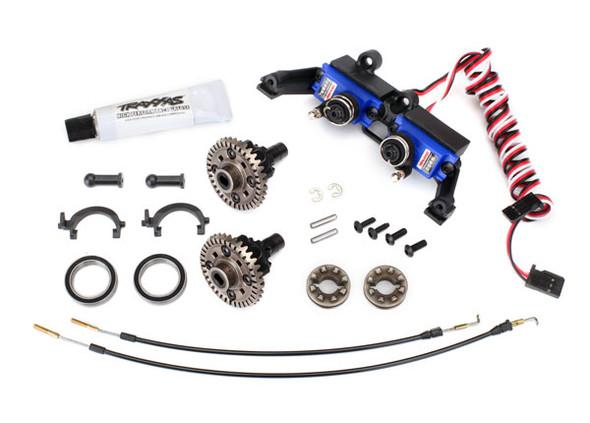 Traxxas 8195 Front / Rear Locking Differential Kit w/T-Lock Cables & Servo: TRX-4 Sport