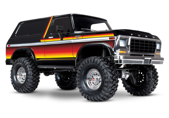 Traxxas 82046-4 TRX-4 Trail Crawler Truck Bronco Ranger XLT RTR Sunset w/ Radio