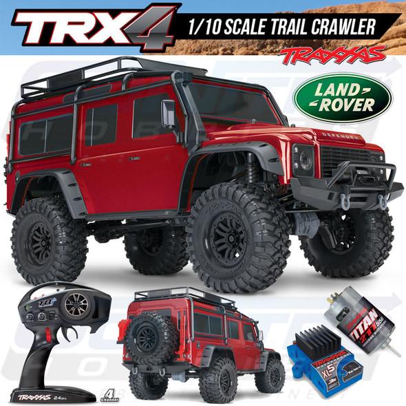 Traxxas 82056-4 TRX-4 Scale & Trail Crawler Defender 4WD Red RTR w/ TQi Radio