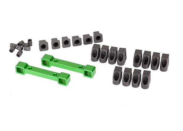 Traxxas 8334G Green Aluminum Suspension Arm / Mount Set : 4-Tec 2.0 / Ford GT