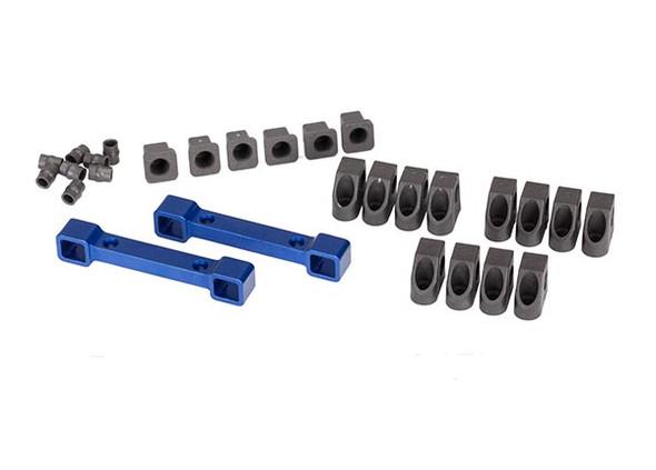 Traxxas 8334X Blue Aluminum Suspension Arm / Mount Set : 4-Tec 2.0 / Ford GT