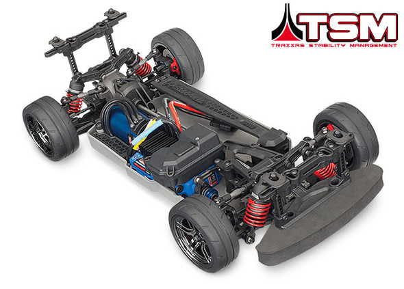 Traxxas 8375 Mounted Front and Rear Tires on Black Chrome Rims (4) : 4-Tec 2.0