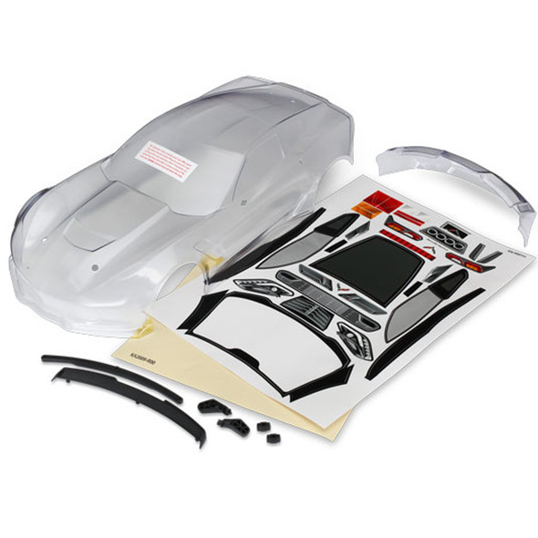 Traxxas 8386 Chevrolet Corvette Z06 Clear Body Requires Painting : 4-Tec 2.0 / Ford GT