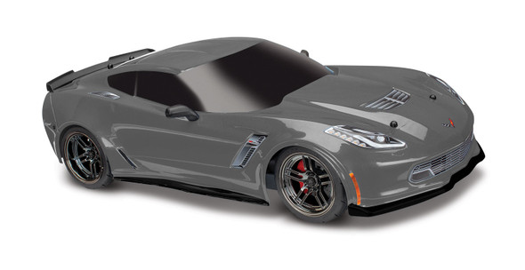 Traxxas 8386A Chevrolet Corvette Z06 Graphite Painted Body Decals Applied : 4-Tec / Ford GT