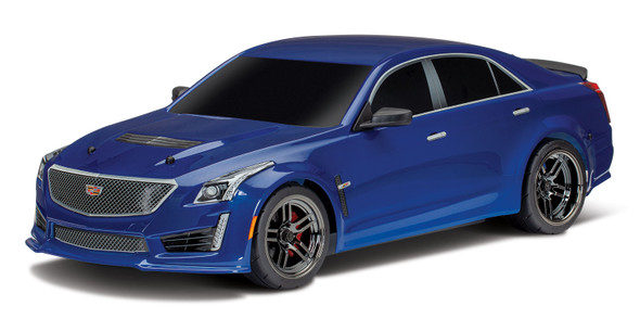 Traxxas 8391A Blue Cadillac CTS-V Body Painted Decals Applied : 4-Tec 2.0
